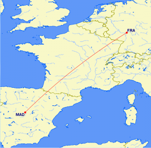 FRA-MAD route