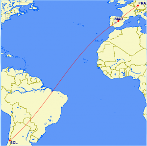 SCL-MAD-FRA route