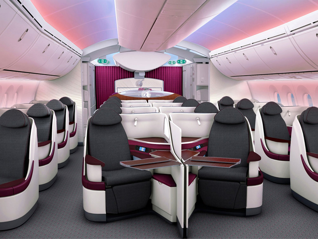 Qatar Airways Business Class Angebote Boeing 787