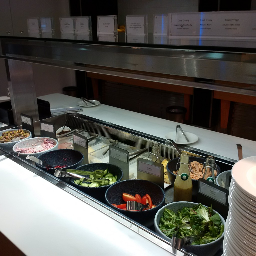 British Airways First Class Lounge London Buffet