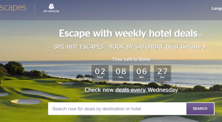 SPG Hot Escapes für die nächsten 6 Wochen buchbar