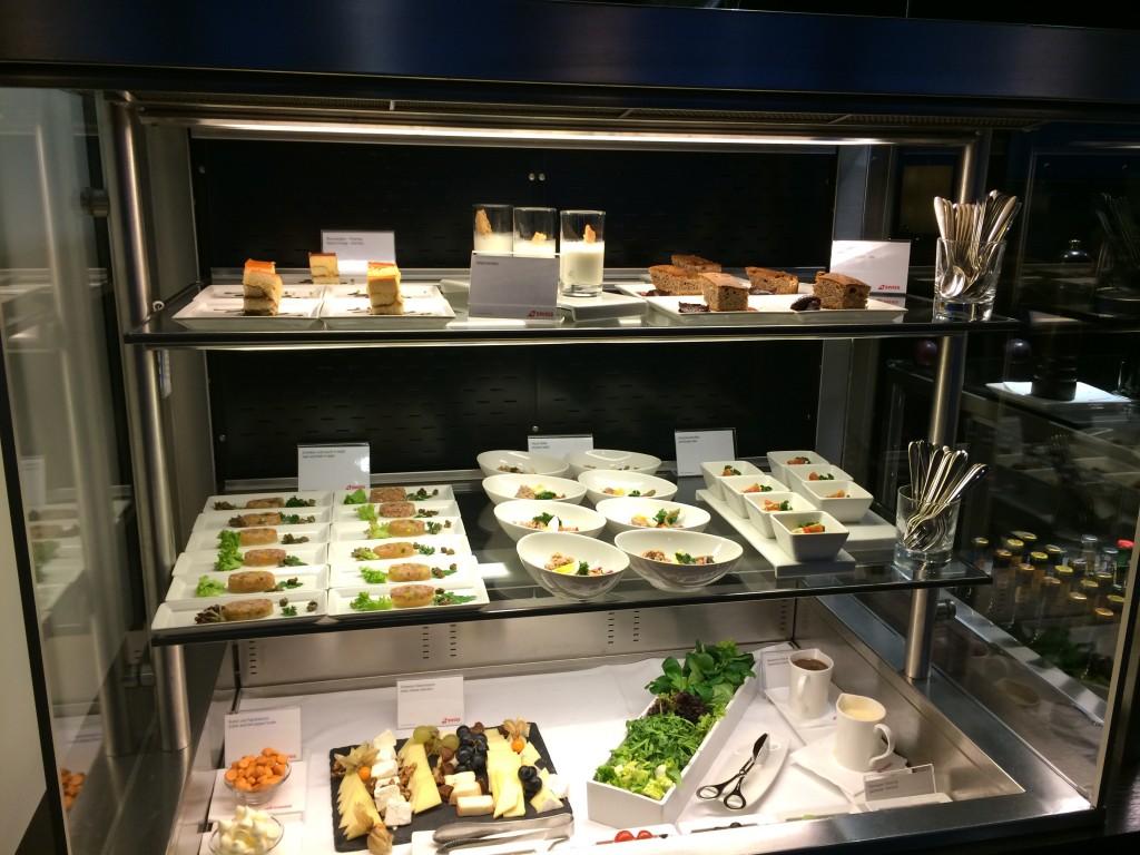 SWISS First Class Lounge Buffet