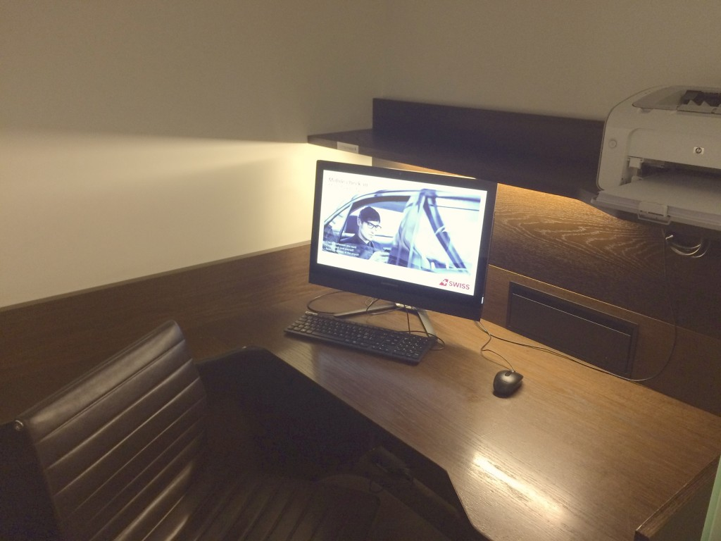 SWISS First Class Lounge Workstation