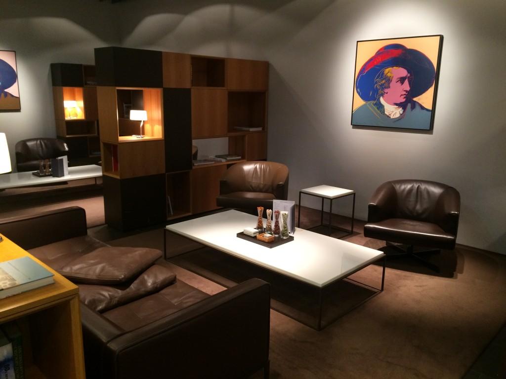 Lufthansa First Class Lounge Bibliothek