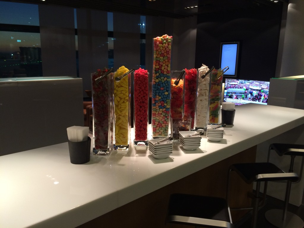 Lufthansa First Class Lounge Candy Bar