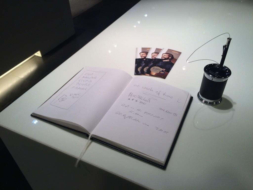 Lufthansa First Class Lounge Gästebuch