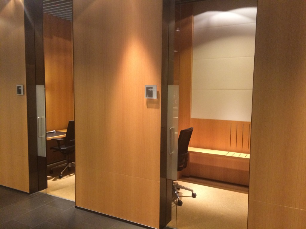 Lufthansa First Class Lounge Workstations