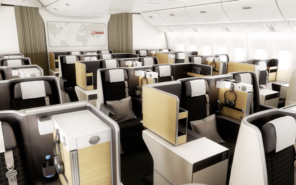 SWISS Business Angebote: SWISS Business Class Kabine Boeing B777