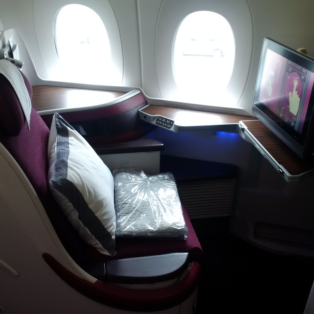 Qatar Airways Business Class A350 Sitz