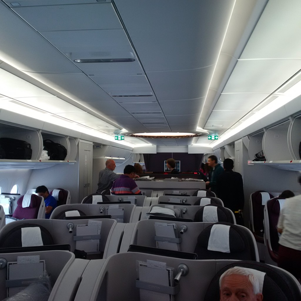 Qatar Airways Business Class auf der Airbus A350