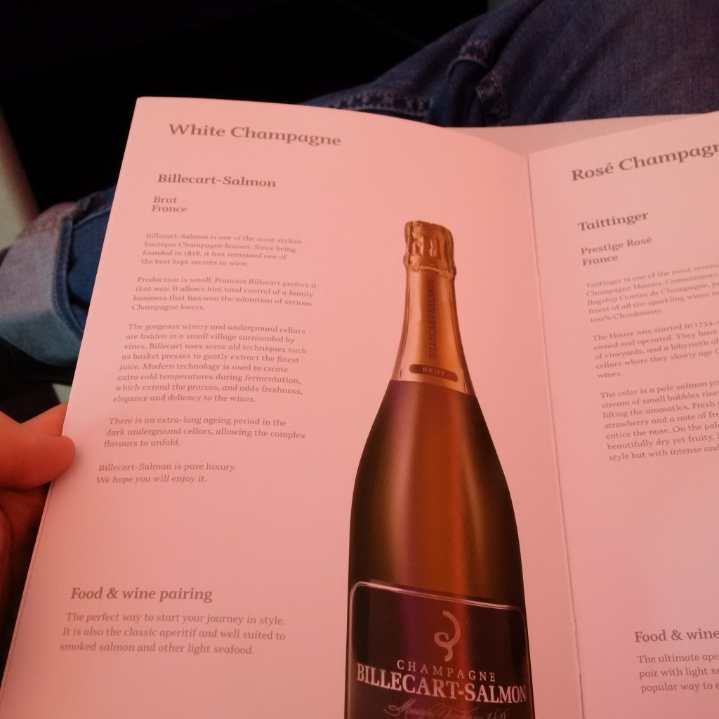 Qatar Airways Business Class Getränkekarte