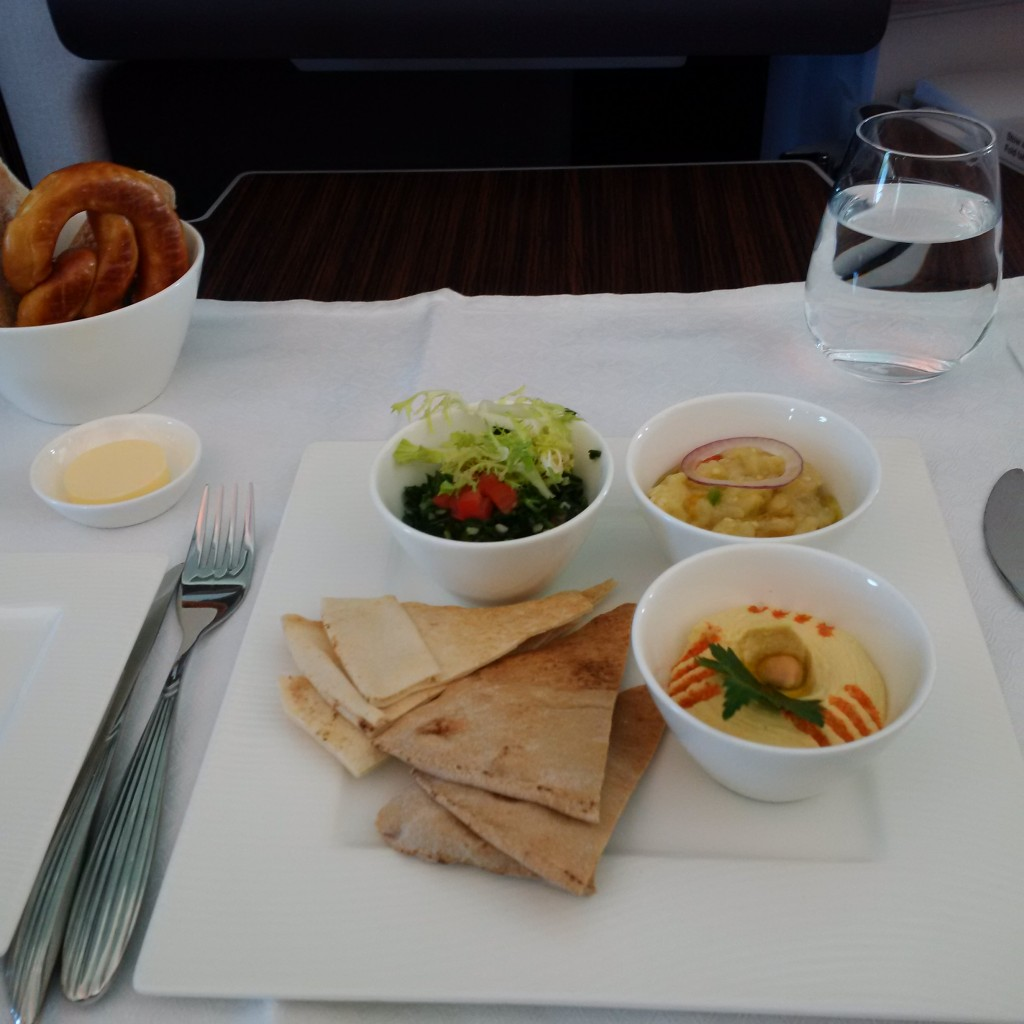 Qatar Airways Business Class Vorspeise