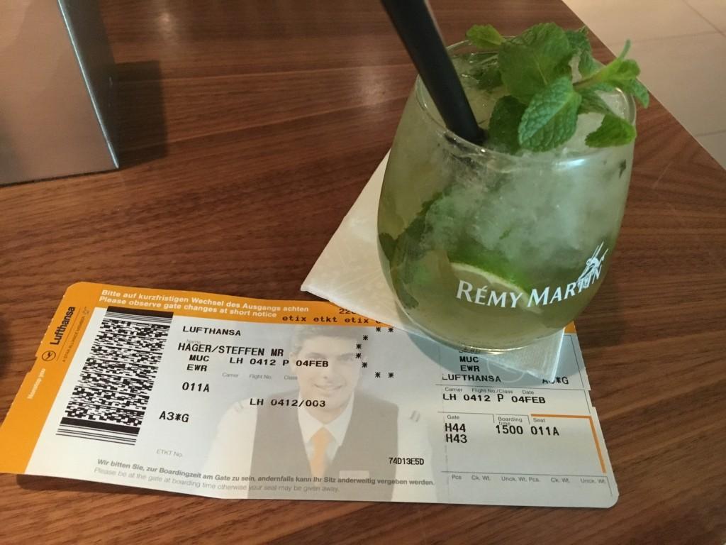 Lufthansa Senator Lounge München Non Schengen - Cocktail