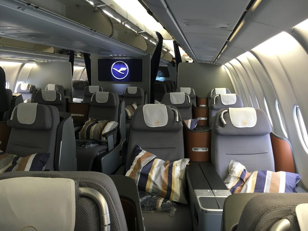 Lufthansa business Class Kabine