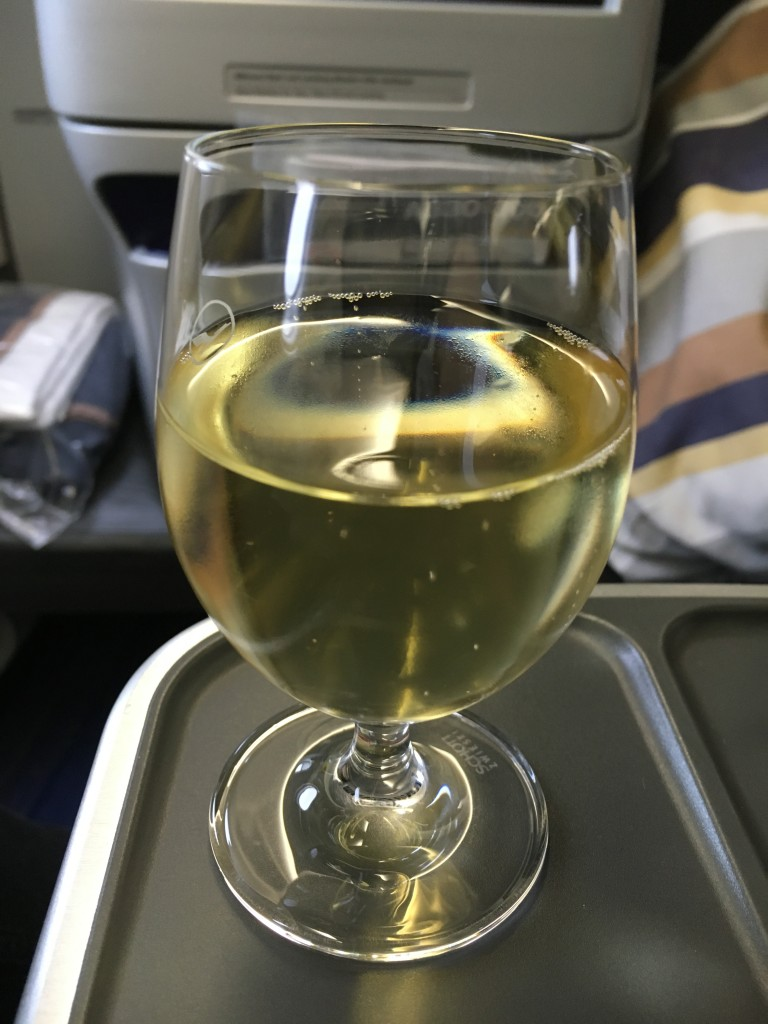 Lufthansa Business Class München - New York Welcome Drink