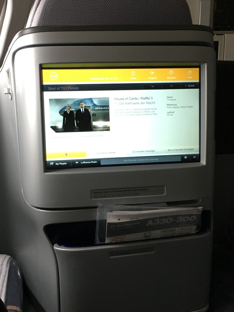 Lufthansa Business Class Entertainment System