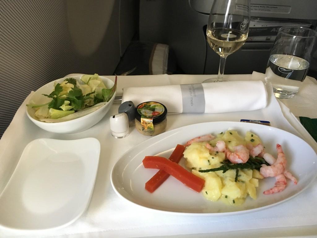 Lufthansa Business Class Vorspeise