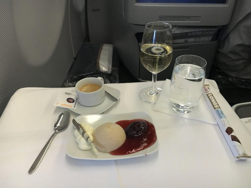 Lufthansa Business Class Nachspeise