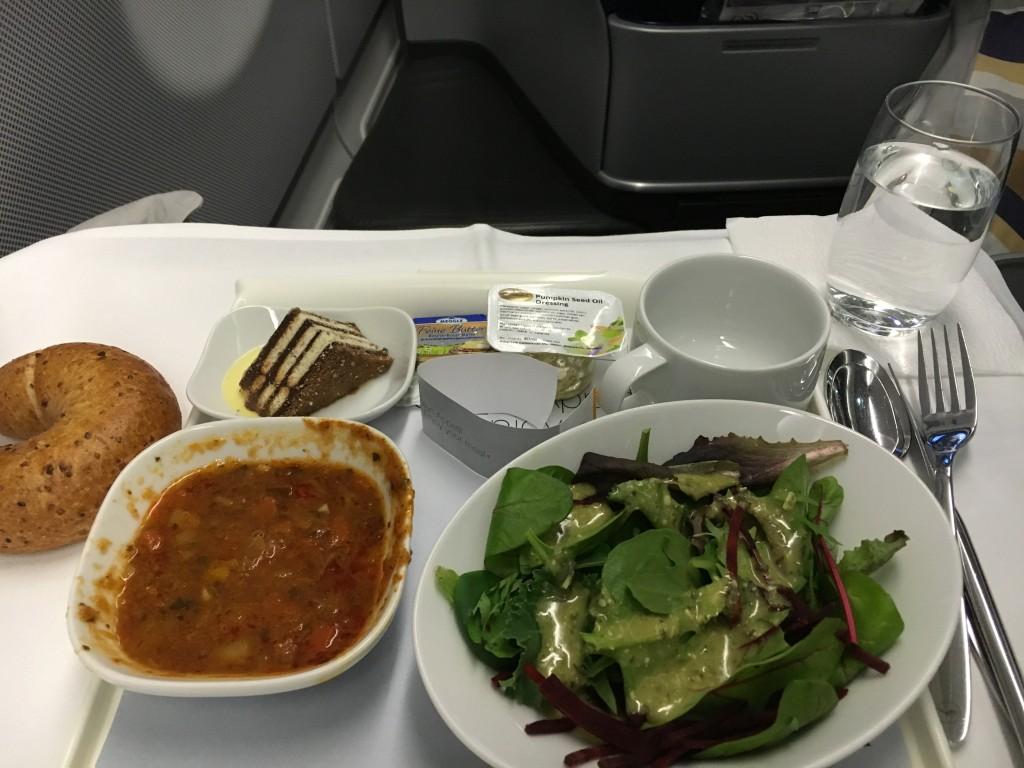 Lufthansa Business Class - Snack vor der Landung