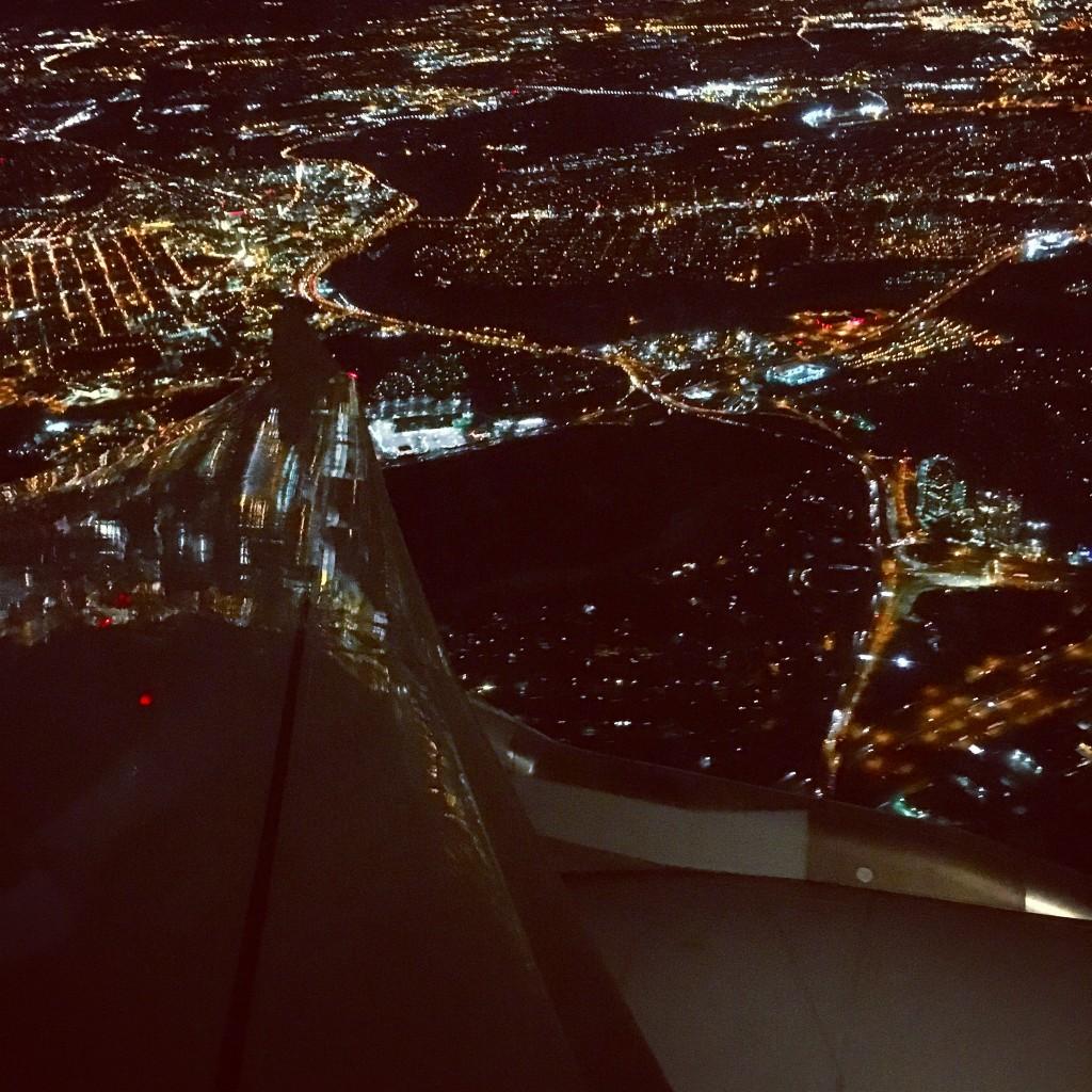 Lufthansa Business Class - Anflug auf Newark