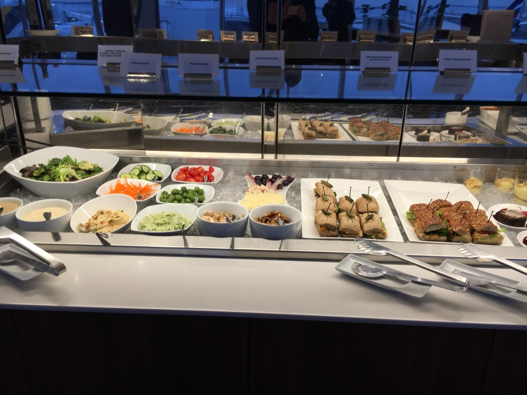 Lufthansa Senator Lounge New York JFK Buffet