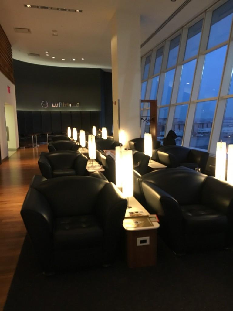 Lufthansa Senator Lounge New York JFK Sitzbereich