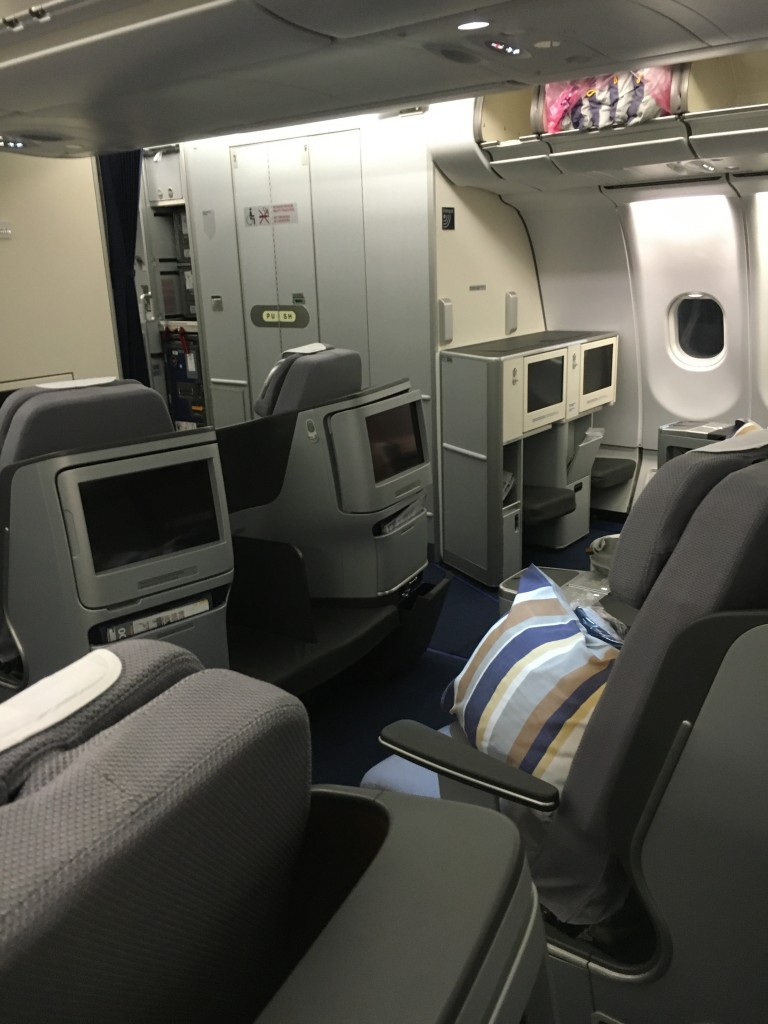 Lufthansa Business Class A340-600 Kabine
