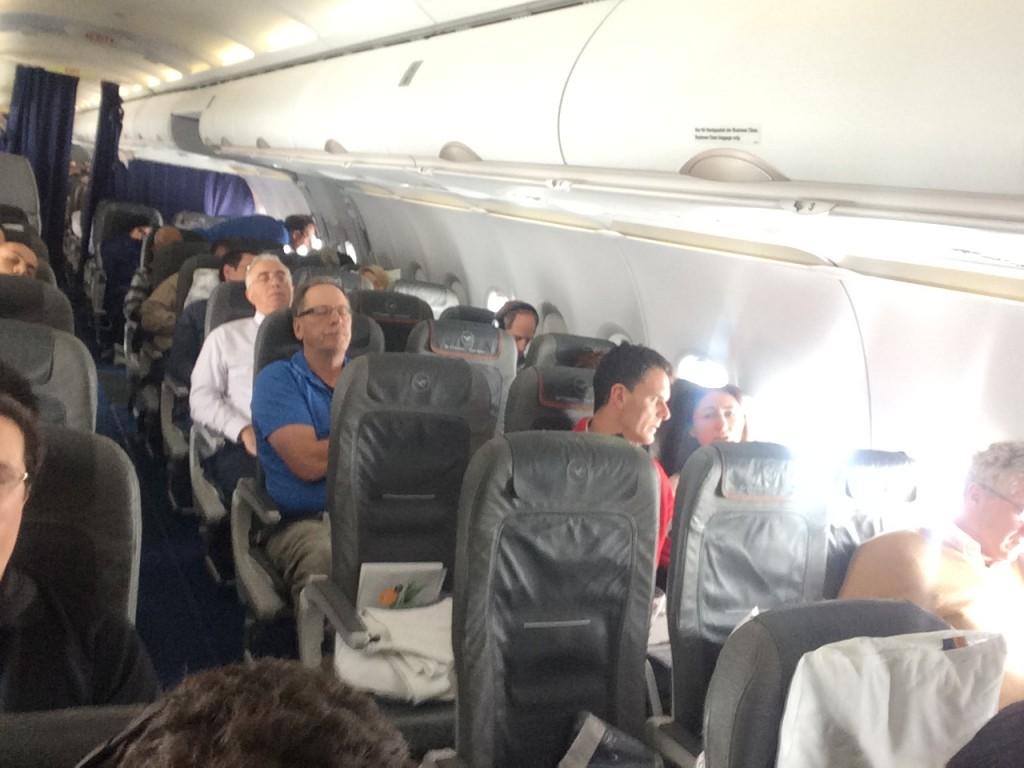 Lufthansa Business Class A321 Kabine