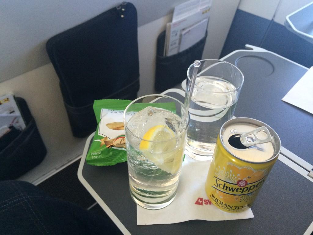 Swiss Business Class Airbus 320 Gin & Tonic
