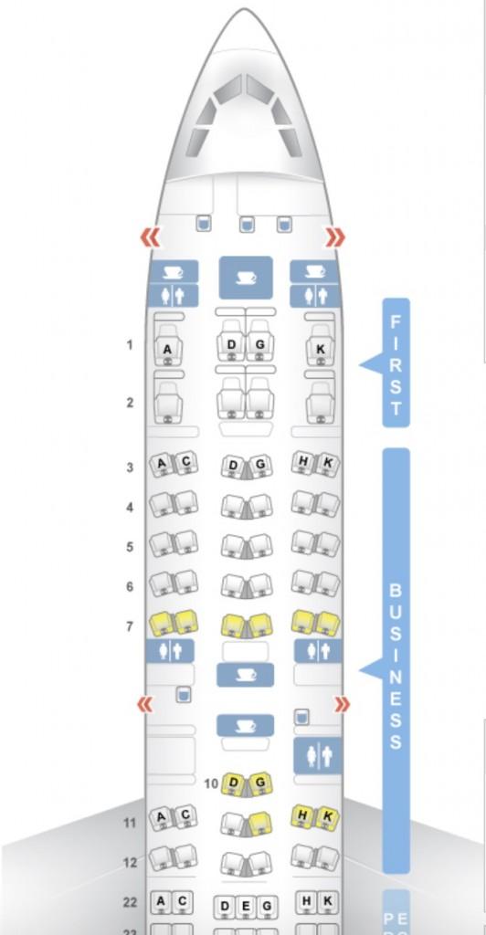 Lufthansa Business Class A340-600 Sitzplan