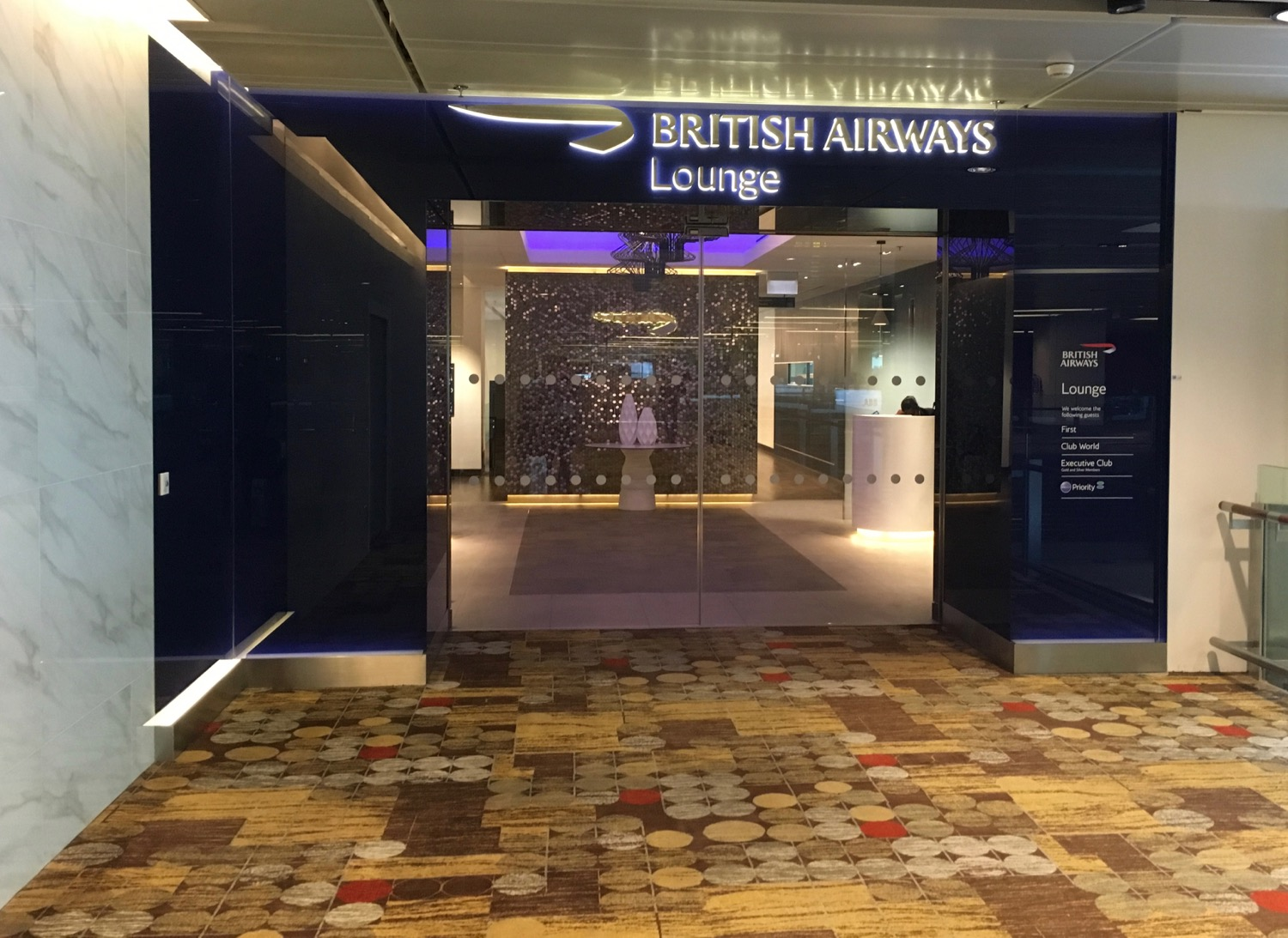 British Airways Singapur Lounge