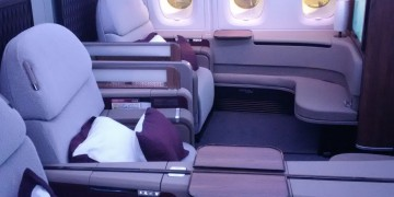 Qatar Airways First Class - Kabine