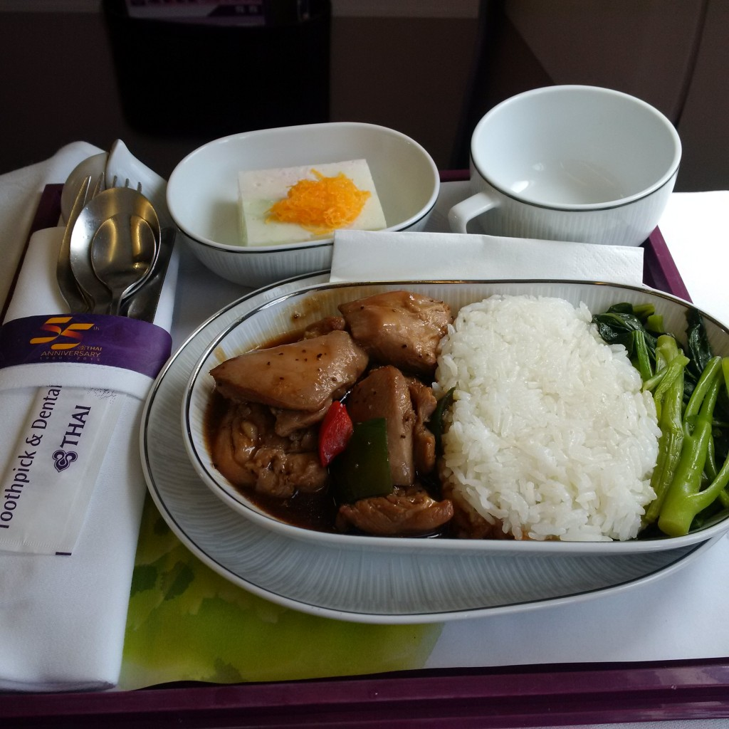 Thai Airways Business Class Bangkok - Phuket Essen