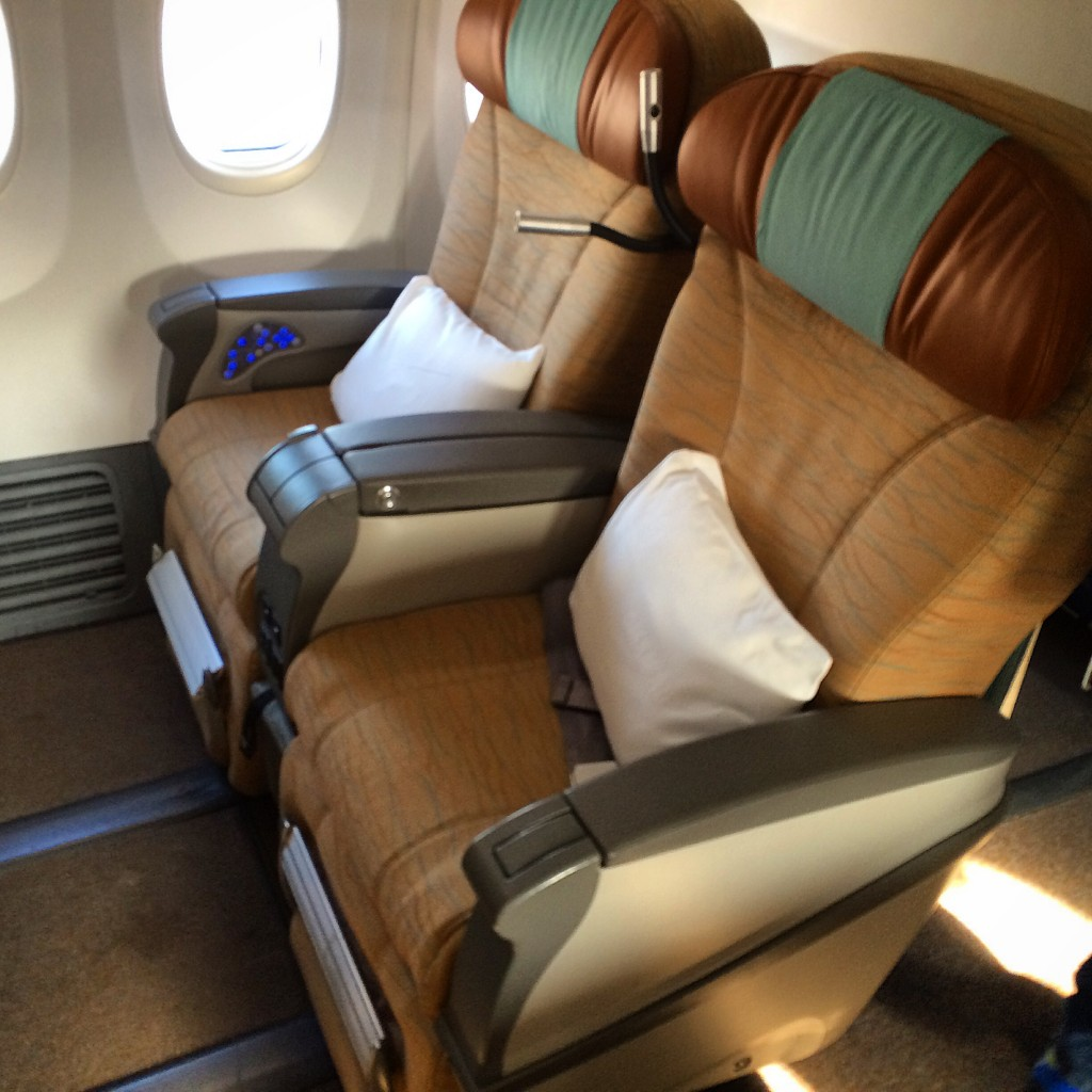 Oman Air 737 Business Class - Sitze