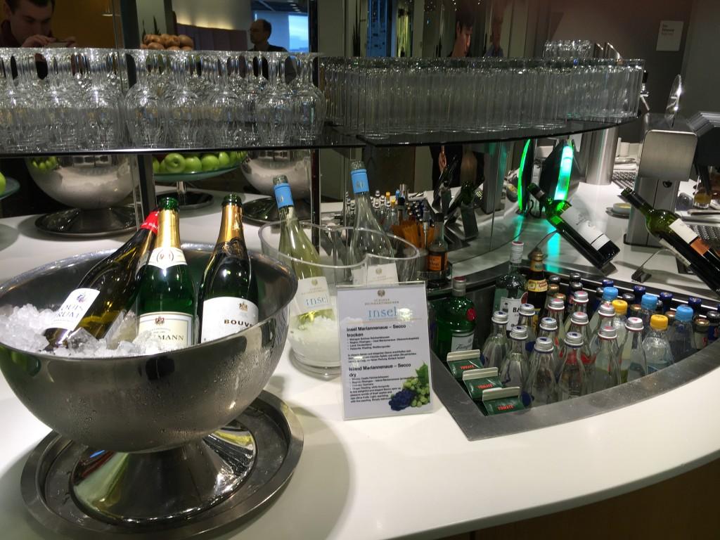 Lufthansa Senator Lounge Frankfurt Terminal 1B - Getränkeauswahl