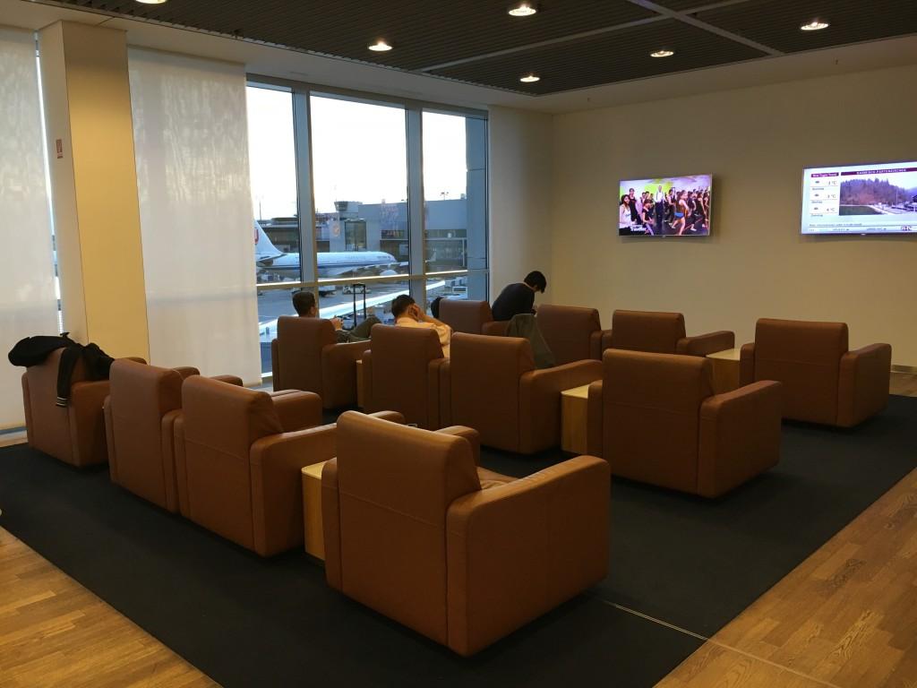 Lufthansa Senator Lounge Frankfurt Terminal 1B - TV Ecke