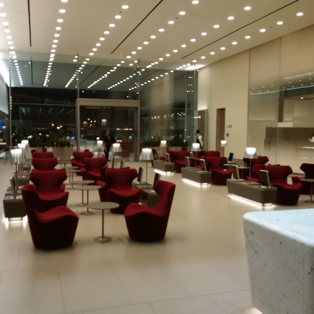Qatar Airways Business Class Lounge - Cafe