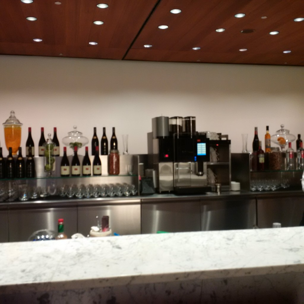 Qatar Airways Business Class Lounge - Bar