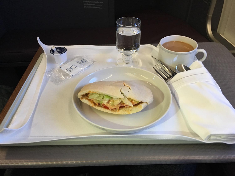 SQ_A350_BusinessClass Food_Gate_Ausblick - 2