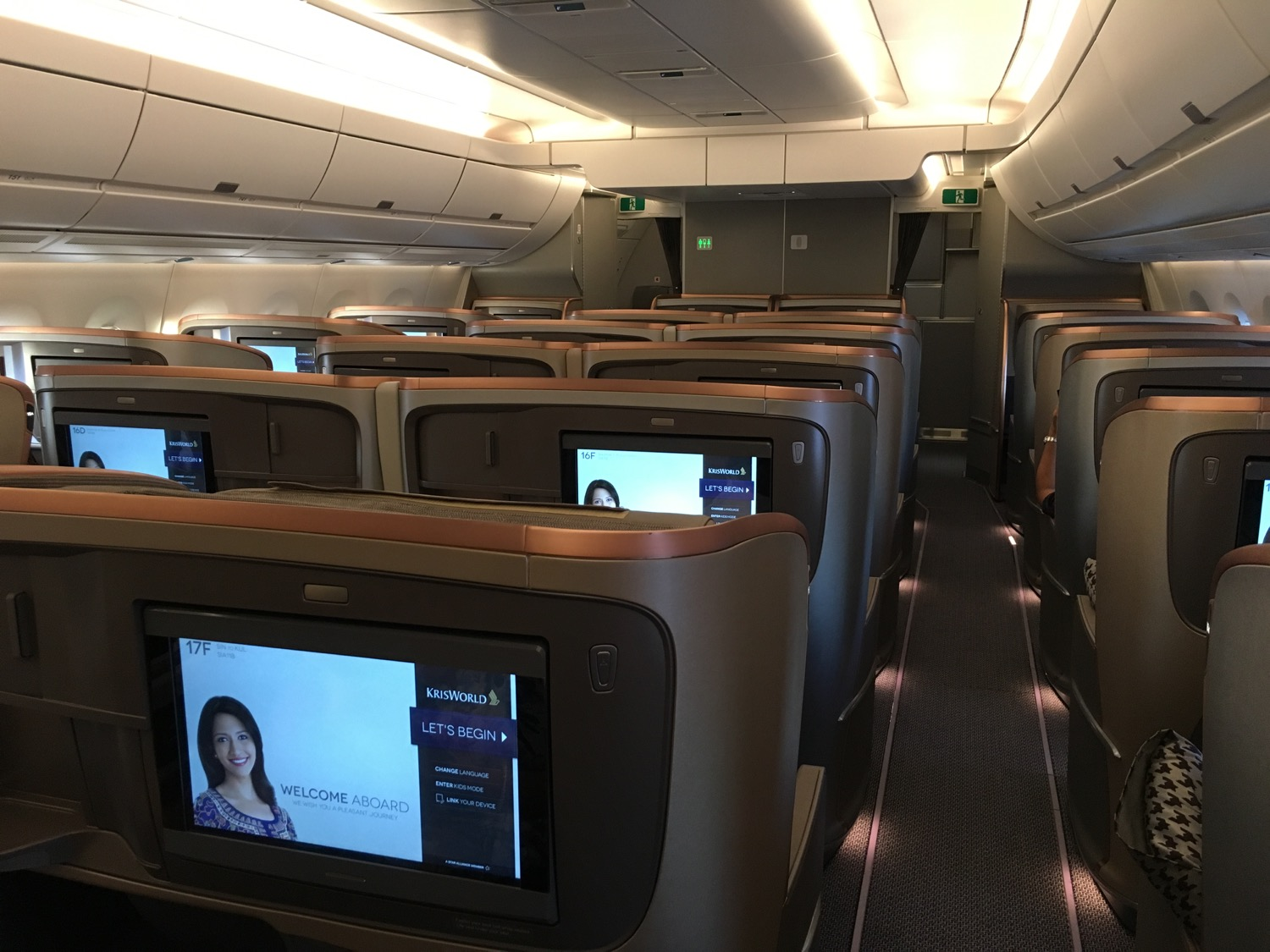 Singapore Airlines A350 Kabine
