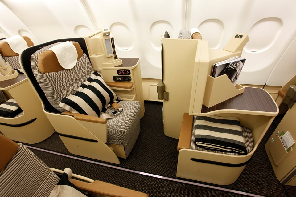 Etihad Airways Business und First Class Angebote - Business Class