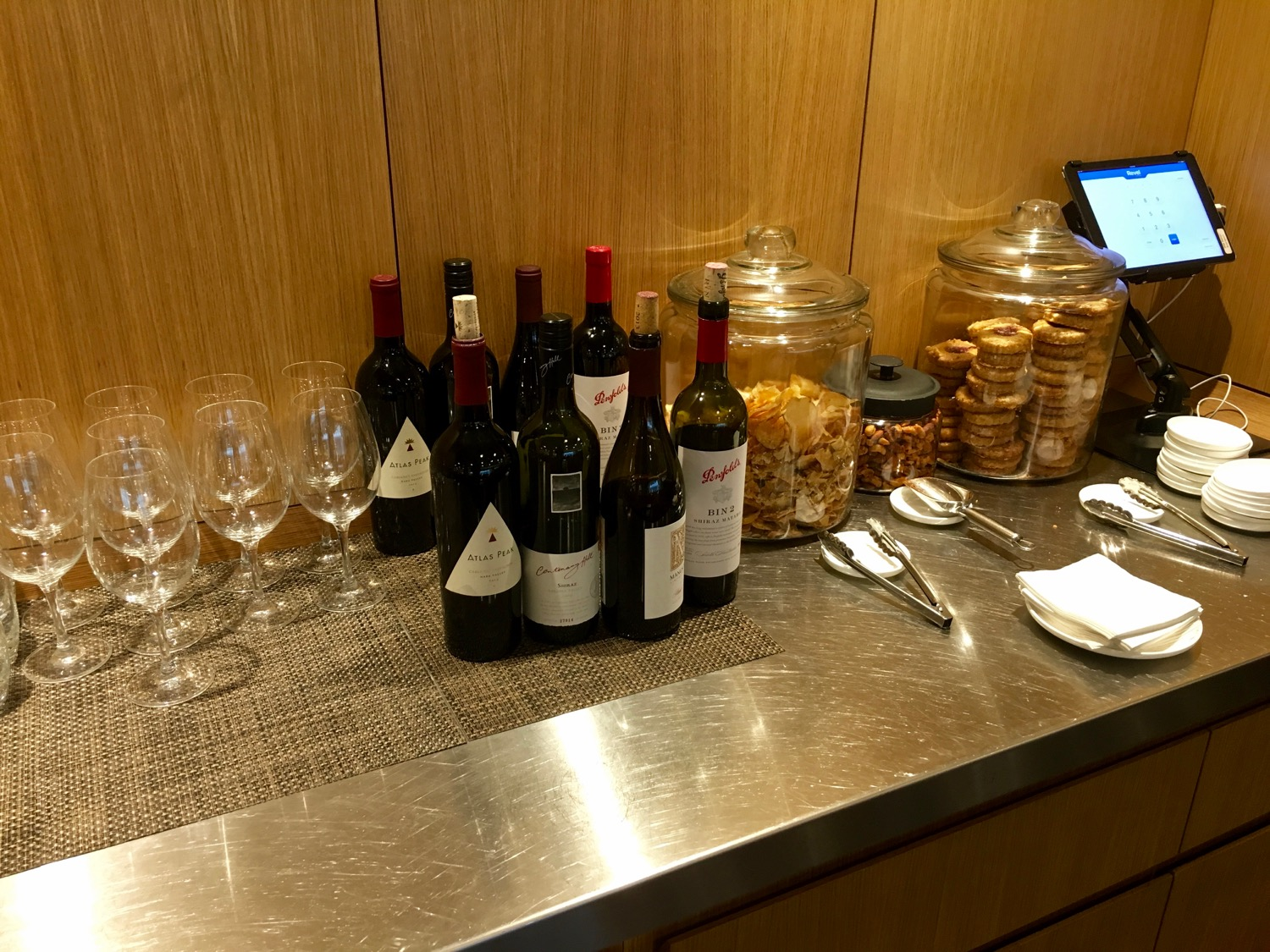Qantas FirstClass Lounge Wein - 2