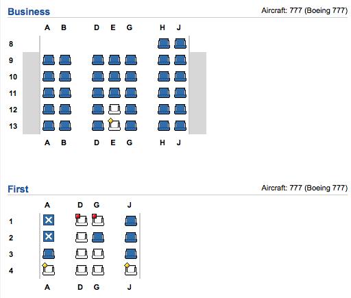 AA 71 Seatmap