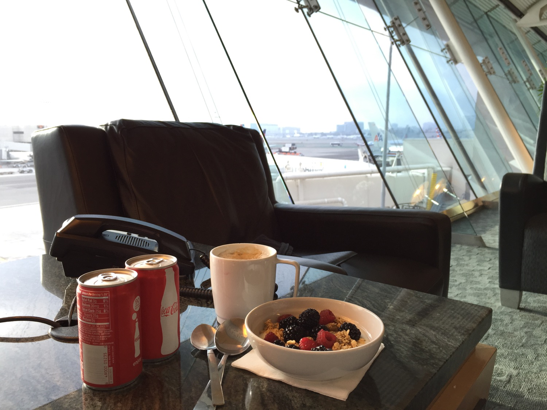 AA flagship Lounge Speisen - 1