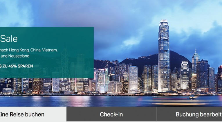 Cathay Pacific 72 Stunden Sale