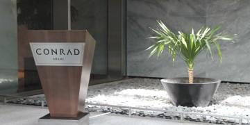 Eingangsbereich des Conrad Miami