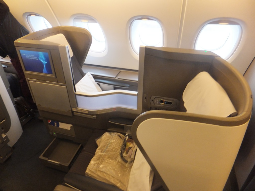 Platz 53K der British Airways Club World A380