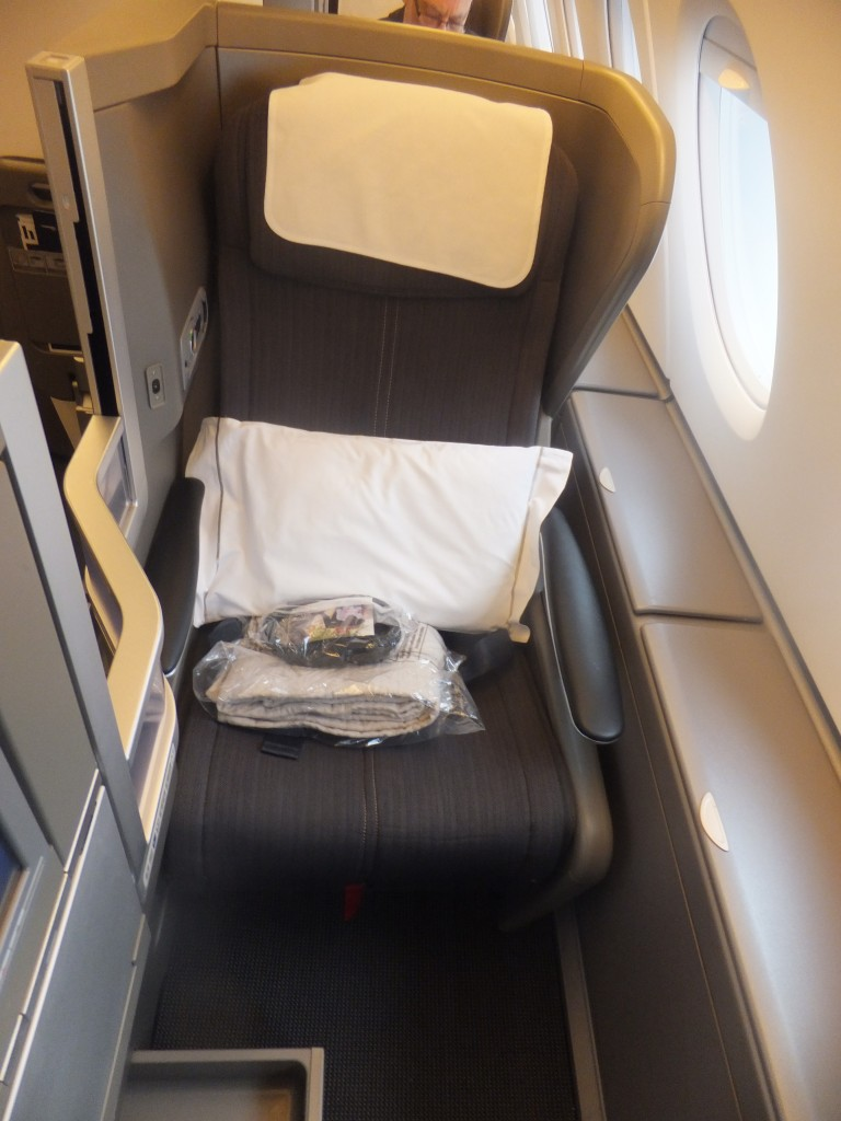 Sitz der British Airways Club World A380