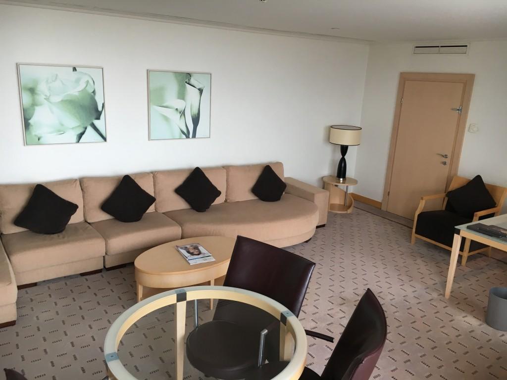Penthouse Suite Wohnzimmer im Hilton Wien