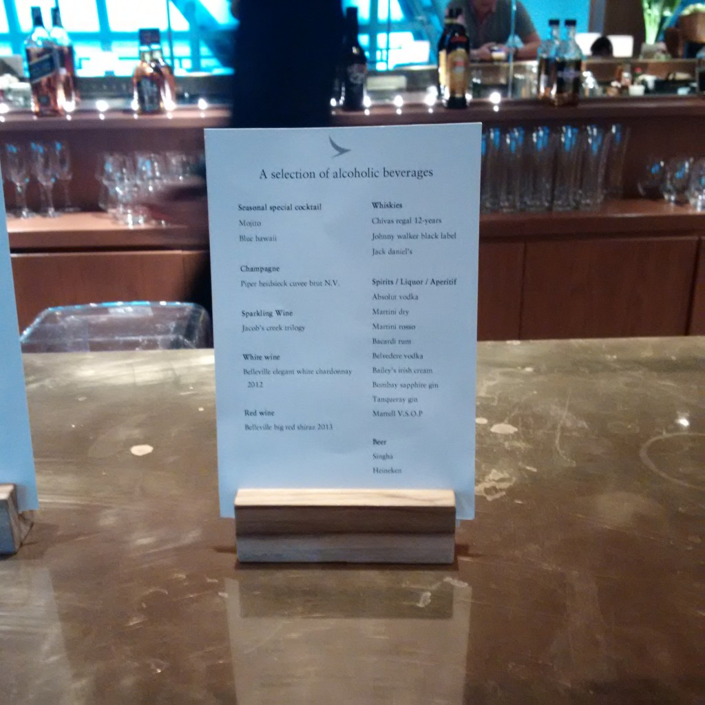 Bar in der Cathay Pacific Lounge Bangkok